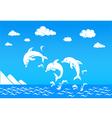 Dolphin in sea vector image