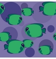 seamless green fish vector image