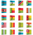 flags - africa vector image