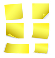 Yellow post-it set vector image