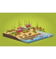 Lumber mill near the river vector image