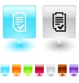 form square button vector image