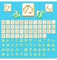 Pixel Japanese Hiragana vector image