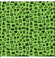 seamless pattern with technology icons vector image vector image