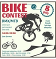 BMX Event Flyer vector image