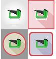 electric repair tools flat icons 05 vector image