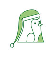 christmas penguin with hat decoration funny vector image