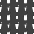cocktail icon sign Seamless pattern on a gray vector image