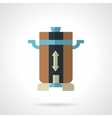 Coffee mill flat color design icon vector image