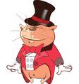 Cute Cat Actor Cartoon Character vector image