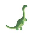 green theropod dinosaur character jurassic vector image