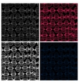 Set of seamless patterns Colorful lines on black vector image