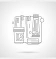 washrooms accessories line vector image