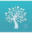 Abstract tree on blue background vector image