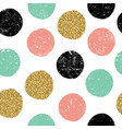 gold green and black dots seamless textured vector image