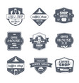 coffee house - vintage set of logos vector image