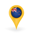 Location New Zealand vector image