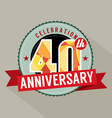 40th Years Anniversary Celebration Design vector image