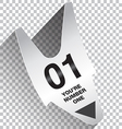 You Are Number One Ticket vector image vector image