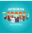 Builders Concept Flat vector image