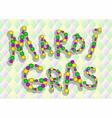 inscription mardi gras vector image vector image