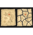 Treasure pirates map on aged parchment vector image