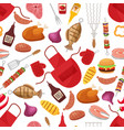 barbecue and grill for home party or restaurant vector image