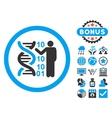 DNA Code Report Flat Icon with Bonus vector image