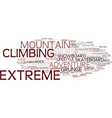 Extreme word cloud concept vector image