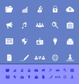 General document color icons on blue background vector image