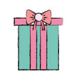 nice present gift to merry christmas celebration vector image