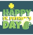 Patricks day Beer vector image