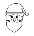 santa claus head isolated icon vector image