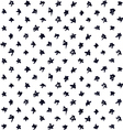 Seamless pattern with black ink hand drawn stars vector image