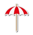 single parasol icon vector image
