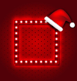 Christmas retro sign with Santa Claus hat vector image