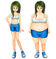 Transformation of a girls body vector image