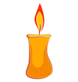 Cartoon wax candle vector image