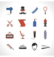 Barber Icons Set vector image