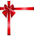 Red Ribbon and Bow isolated on white background vector image