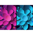 Set of abstract backgrounds with paper flower vector image vector image