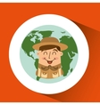 people person man boy scout camp vector image