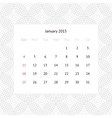 Calendar page for January 2015 vector image