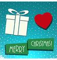 christmas gift card vector image