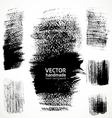 Figured textured brush strokes brush and ink vector image