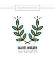 Laurel wreath flat color icon of victory and vector image