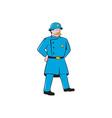 New York Policeman Vintage Standing Cartoon vector image