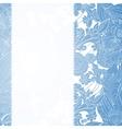 Vintage blue floral ornament background vector image
