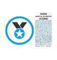 Medal Rounded Icon with 1000 Bonus Icons vector image