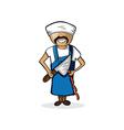 Profession butcher man cartoon figure vector image vector image